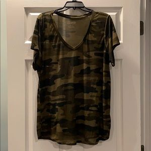 Lucky Brand Camouflage Tissue Tee